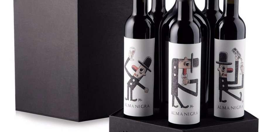 Liniers & Catena: Etiquetas de historieta en los vinos Alma Negra