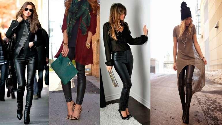 Pantalones de cuero, el must del otoño